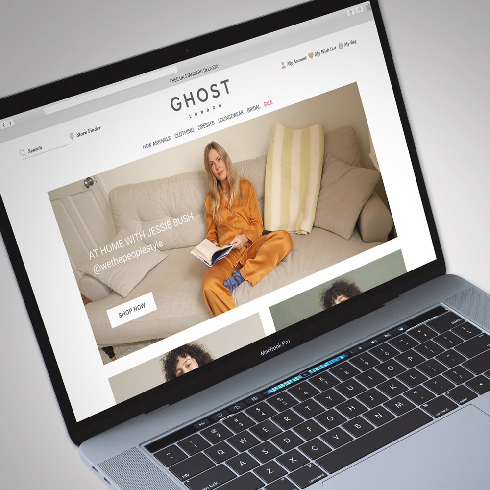 Ghost website home page