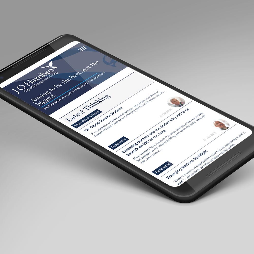 JOHCM website on mobile