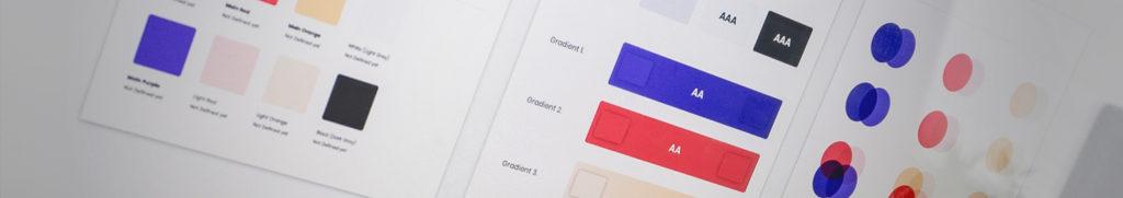 Colour palette and gradient variations