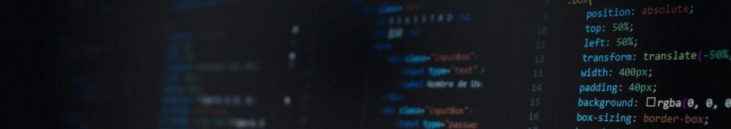 Screenshot of HTML and CSS code