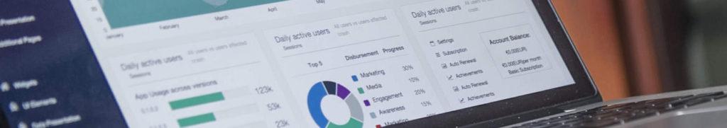 Analytics dashboard for website monitoring