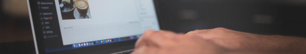 Web developer editing a WordPress website