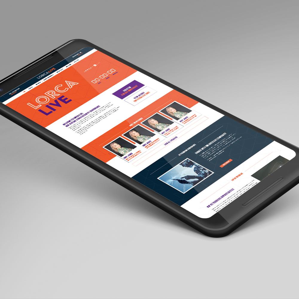 LORCA Live website on mobile