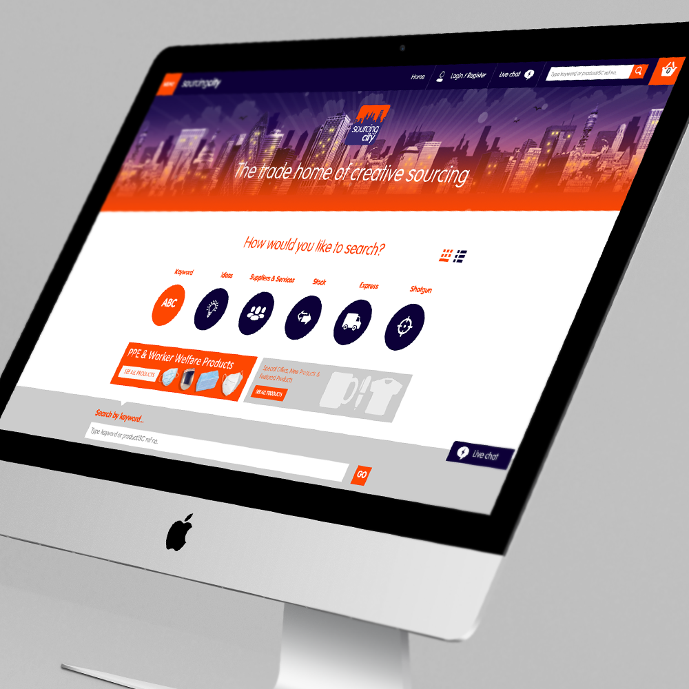 Sourcing City home page