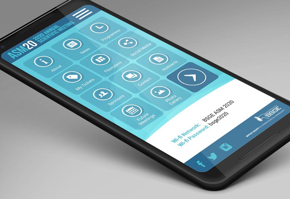 BSGE ASM Mobile App Home Screen